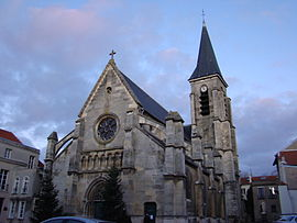 The church of Saint Hermeland of Bagneux