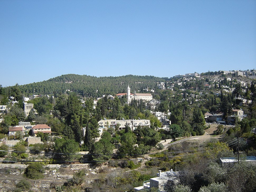 Ein Karem with the church of St. John the Baptist in the Mountains