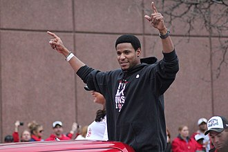 Edwin Jackson - Jackson during the 2011 World Series victory parade