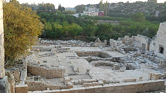 Ayaş, Mersin - The town houses and the ruins next to each other