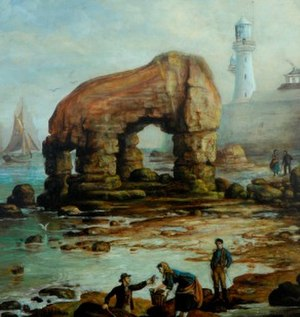 Elephant Rock, Hartlepool - The Holmes painting