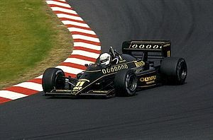 Elio de Angelis - De Angelis driving for Team Lotus at the 1985 German Grand Prix.