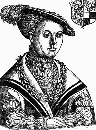 Elisabeth of Brandenburg, Duchess of Brunswick-Calenberg-Göttingen - Elisabeth, woodcut around 1542