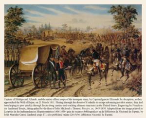 History of Nuevo León - Captain (later Lt. Col.) Elizondo captures insurgents at Bajan, Coahuila on March 21, 1811.