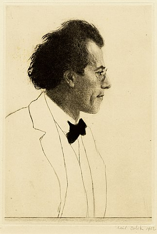 Малер в 1902 году, портрет работы Эмиля Орлика