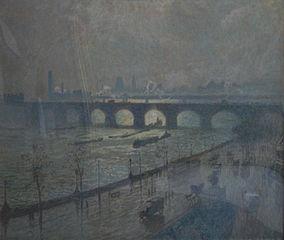 Waterloo Bridge, sun and rain