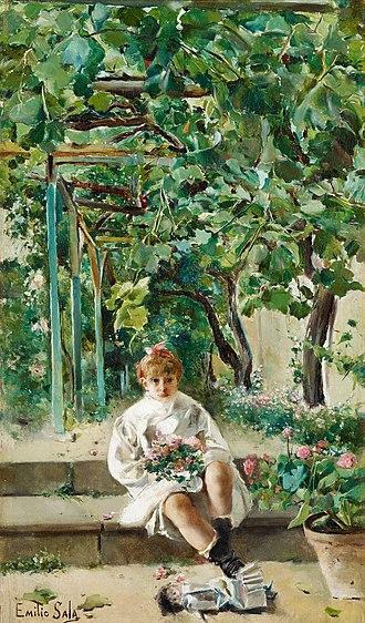 Emilio Sala (painter) - Image: Emilio Sala Francés Muneca abandonata 33,2 x 19 cm