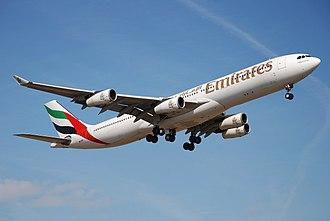Emirates fleet - Emirates Airbus A340-300