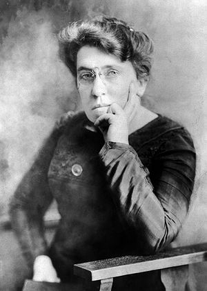 Libertarian socialism - American anarchist Emma Goldman, prominent anarcha-feminist, free love and freethought activist