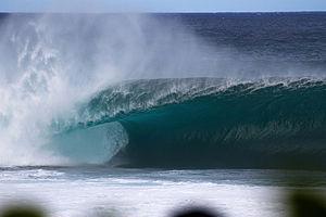 Banzai Pipeline - Empty wave at Banzai Pipeline