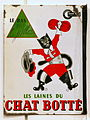 Enamel advert, Le BAS Grille, Les Laines du CHAT BOTTÉ.JPG