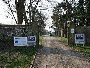 British Trust for Ornithology - Entrance to Thetford Nunnery, base of the BTO