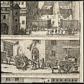 Episodes in the plague in Rome of 1656. Etching. Wellcome V0010662.jpg