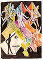 Ernst Ludwig Kirchner - Entwurf zum Wandbild Farbentanz -1927.jpg