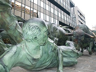 San Fermín - Statues dedicated to Sanfermines festival, in Pamplona