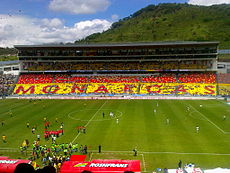 Estadio Morelos during a soccer game
