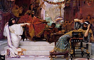 Esther (Handel) - Esther Denouncing Haman by Ernest Normand