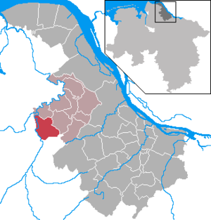 Estorf, Stade - Image: Estorf in STD