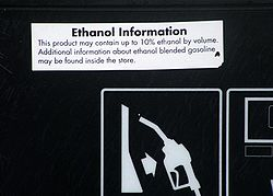 Biofuel  Wikipedia Information On Pump Regarding Ethanol Fuel Blend Up To  California