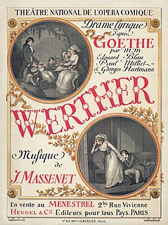 <i>Werther</i> 1892 opera by Jules Massenet