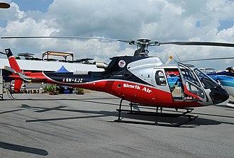 Simrik Air - A Eurocopter AS 350 of Simrik Air