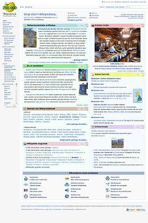 Basque Wikipedia - Image: Euskarazko Wikipedia 250.000. artikulua 2016ko ekainaren 23a