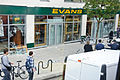 Evans Cycles in Chalk Farm, Camden, during 2011 riots.jpg