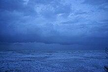 Monsoonal squall nears Darwin