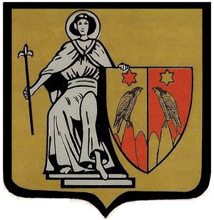 Symbols of Brussels - Image: Evere Blason 1828