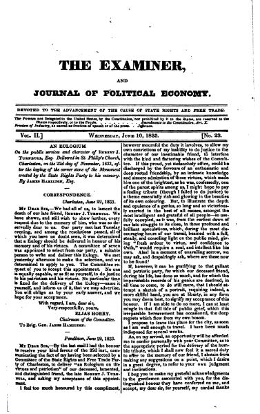 File:Examiner, Journal of Political Economy, v2n23.djvu