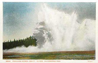 Excelsior Geyser - Image: Excelsion geyser in 1890