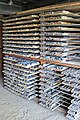 Exploration drill cores (Potter Mine, east of Timmins, Ontario, Canada) (32928527137).jpg
