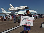Expressing Houston Sentiment About Space Shuttle Endeavour.JPG