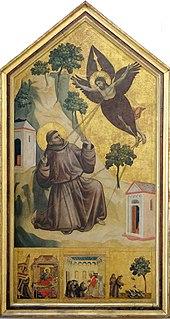 <i>Saint Francis Receiving the Stigmata</i> (Giotto) panel painting by Giotto