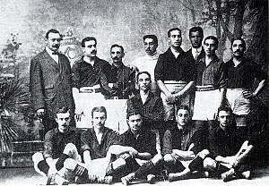 History of FC Barcelona - Team of Barcelona FC that won its first Copa del Rey in 1910.