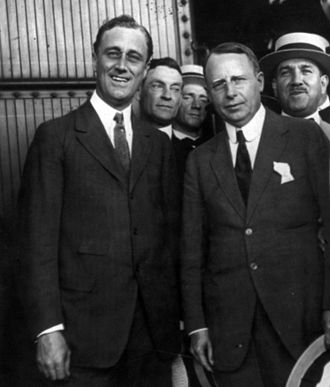 1920 United States presidential election - Roosevelt and Cox at a campaign appearance in Washington, D.C.