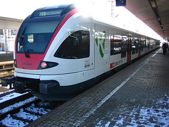 TEXRail - A Stadler FLIRT trainset on the Basel Regional S-Bahn, similar to those used on TEXRail.