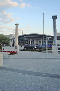 Facade outside Larnaca International Airport Republic of CYPRUS.jpg