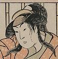 Face detail, Katsukawa Shunei - Actor Iwai Hanshiro IV as a Young Woman with a Sword - 1921.1287 - Cleveland Museum of Art (cropped).jpg