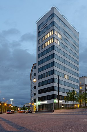 HQ of Familjebostäder. Södra Hammarbyhamnen, Stockholm. Familjebostäder is a public housing corporation wholly owned by the Municipality of Stockholm