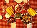 Family BBQ dinner, Summer 2014 (15304936081).jpg
