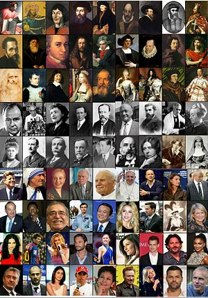 Lists of Roman Catholics - Set of pictures for a number of famous Roman Catholics from various fields.