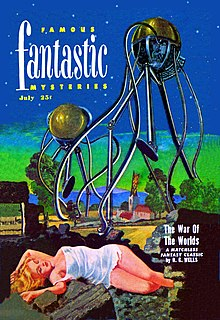 the war of the worlds  a reprint of the war of the worlds was cover featured on the 1951 issue of famous fantastic mysteries