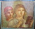 Fanciulle che scrivono messaggi d'amore (IV stile), I sec, da pompei, MANN 9074.JPG