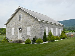 Metal Township, Franklin County, Pennsylvania - Image: Fannettsburg PA Reformed Church (1844) Fran Co