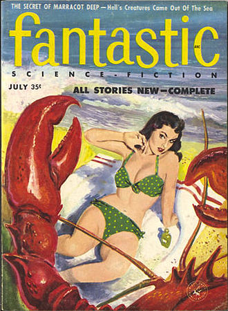 "Henry Slesar - Slesar's novella ""The Secret of Marracott Deep"" was the cover story of the July 1957 issue of Fantastic"