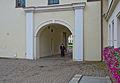 Felicity at the Arsenal entrance, Vilnius, Lithuania, Sept. 2008 (2933136631).jpg