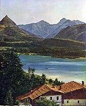 Der Wolfgangsee (1835), Belvedere, Wien (Quelle: Wikimedia)