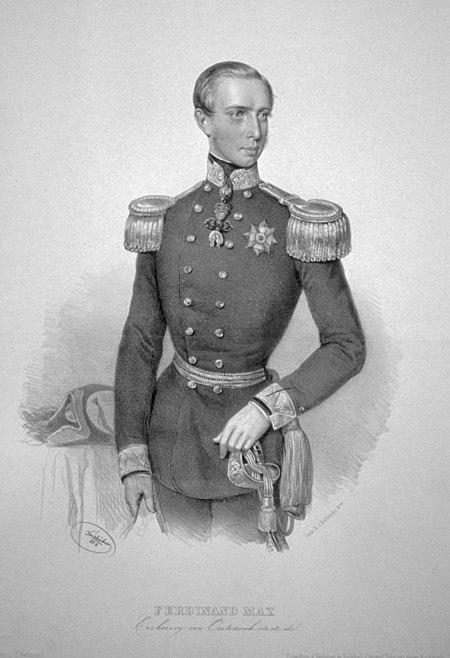 Ferdinand Maximilian of Austria Litho
