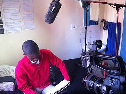 Filming interviews about Sinenjongo High School, Cape Town, South Africa.jpeg